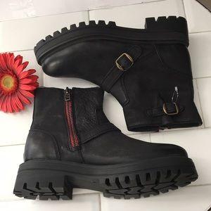 Motives Combat Boot Women Size 41 Blackzipper NWOT